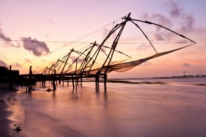 Fishing nets in South East India