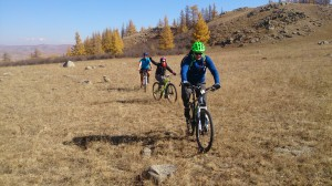 Mongolia bike riding