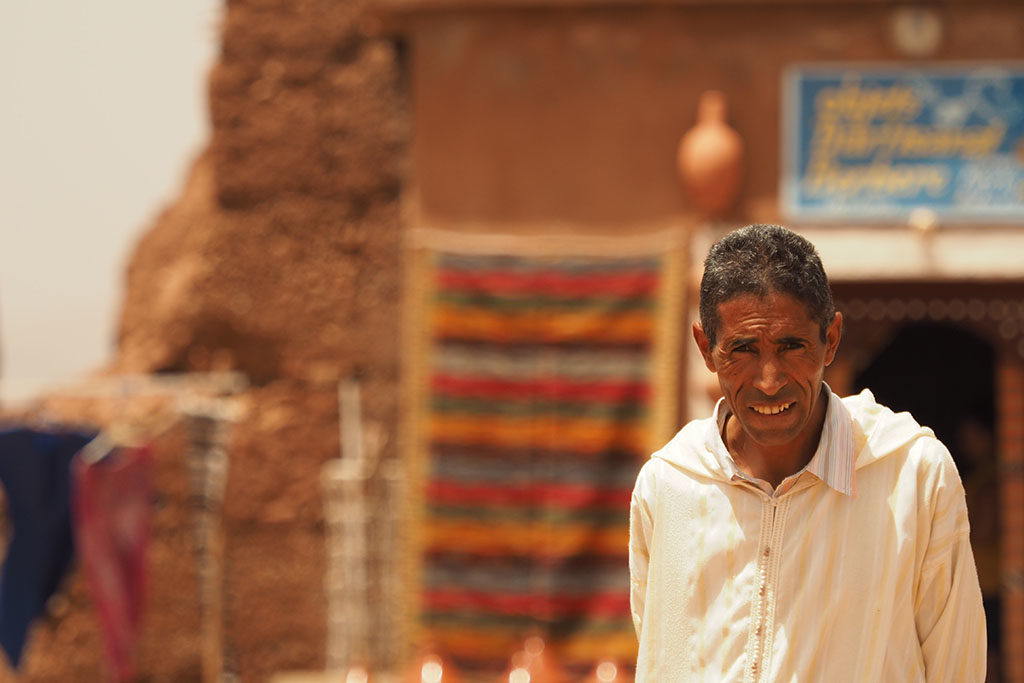 Moroccan man smiling at the camera